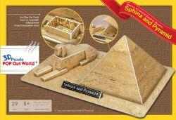 "3D Puzzle POP Out World ""The Sphinx and the Great Pyramid of Giza - Egypt_2"