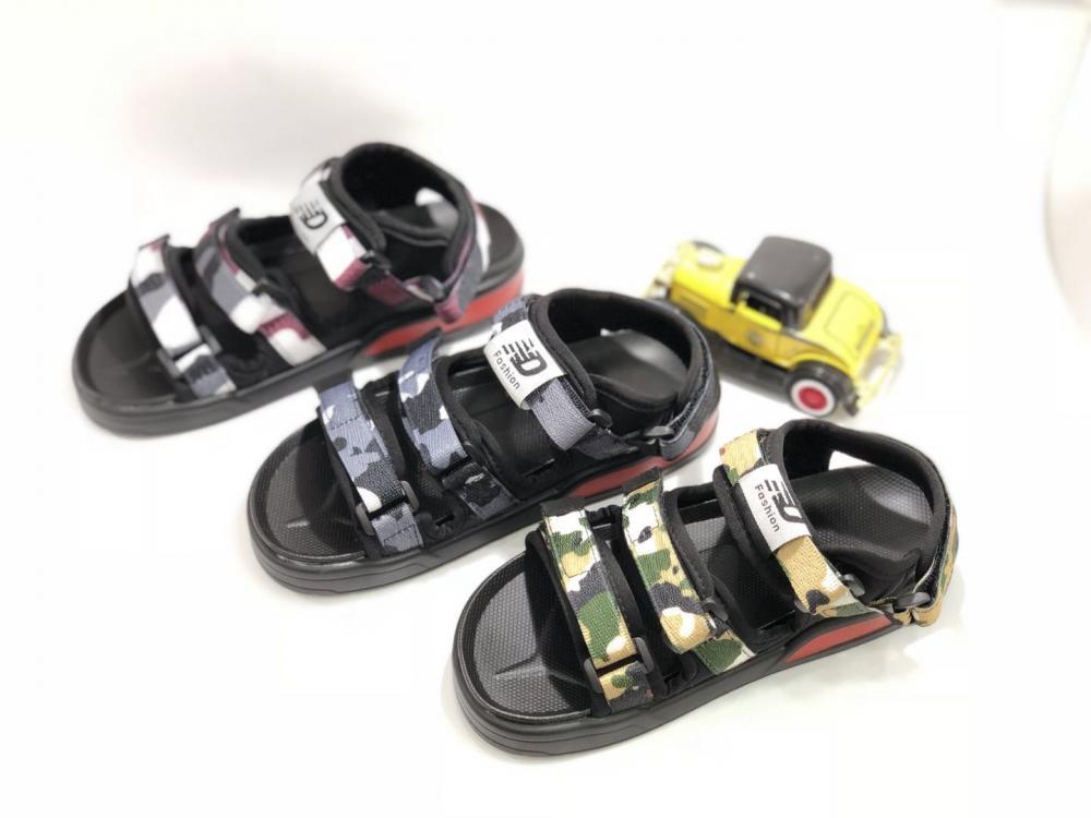 KK Kids Camouflage Sandals Boy Shoes Children Footwear Velcro  Summer Sports Shoes SKU173168B_2