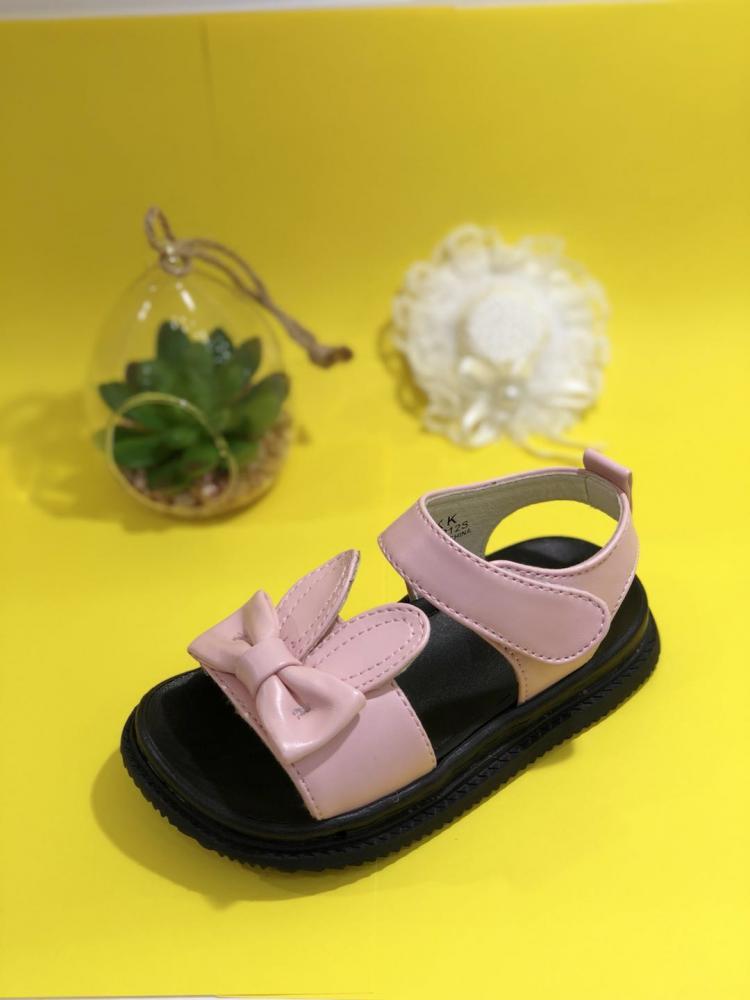 KK Kids Bunny Leather Sandals Girl Shoes Children Footwear Fashion Summer Flat Shoes SKU173212S_5