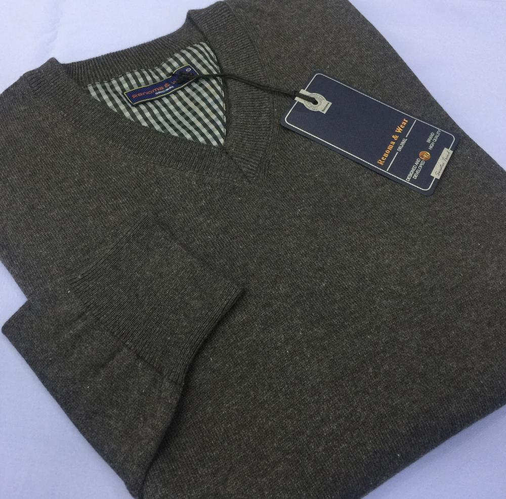 Men's 100% Cotton Plain Sweaters (V neck or 0 neck)_3