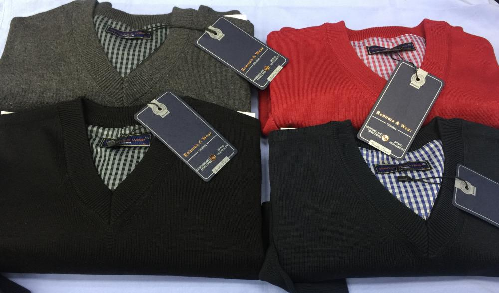 Men's 100% Cotton Plain Sweaters (V neck or 0 neck)_9