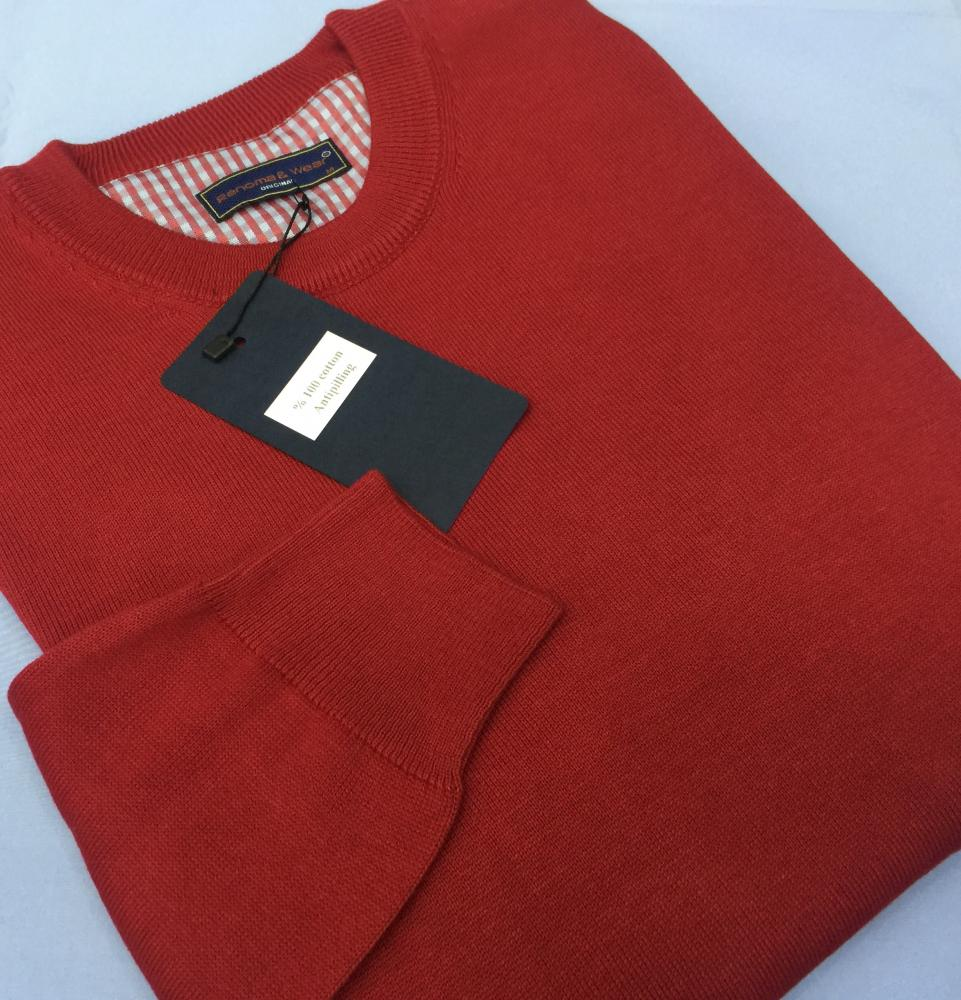 Men's 100% Cotton Plain Sweaters (V neck or 0 neck)_6