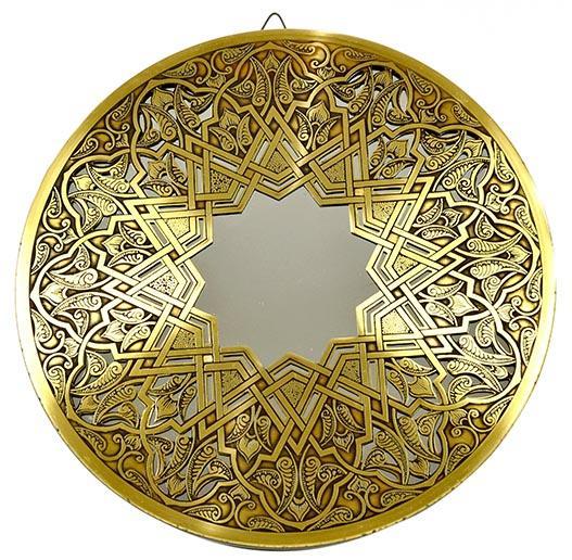 Fully handmade Copper Mirror (L) 40 CM_4
