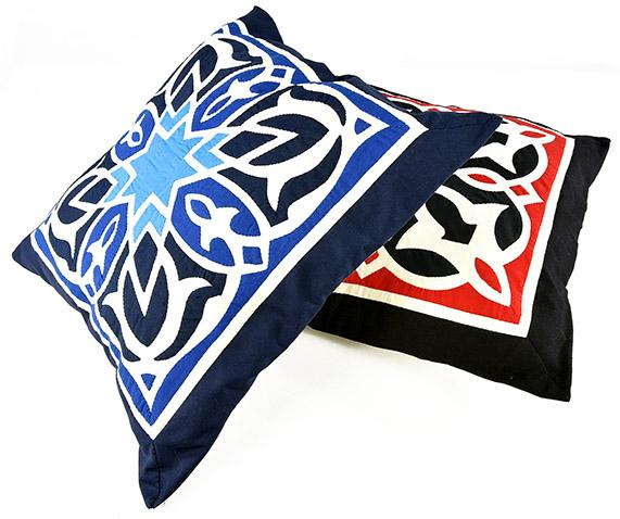 Fully handmade Throw Pillow-Blue 50*50 cm_2