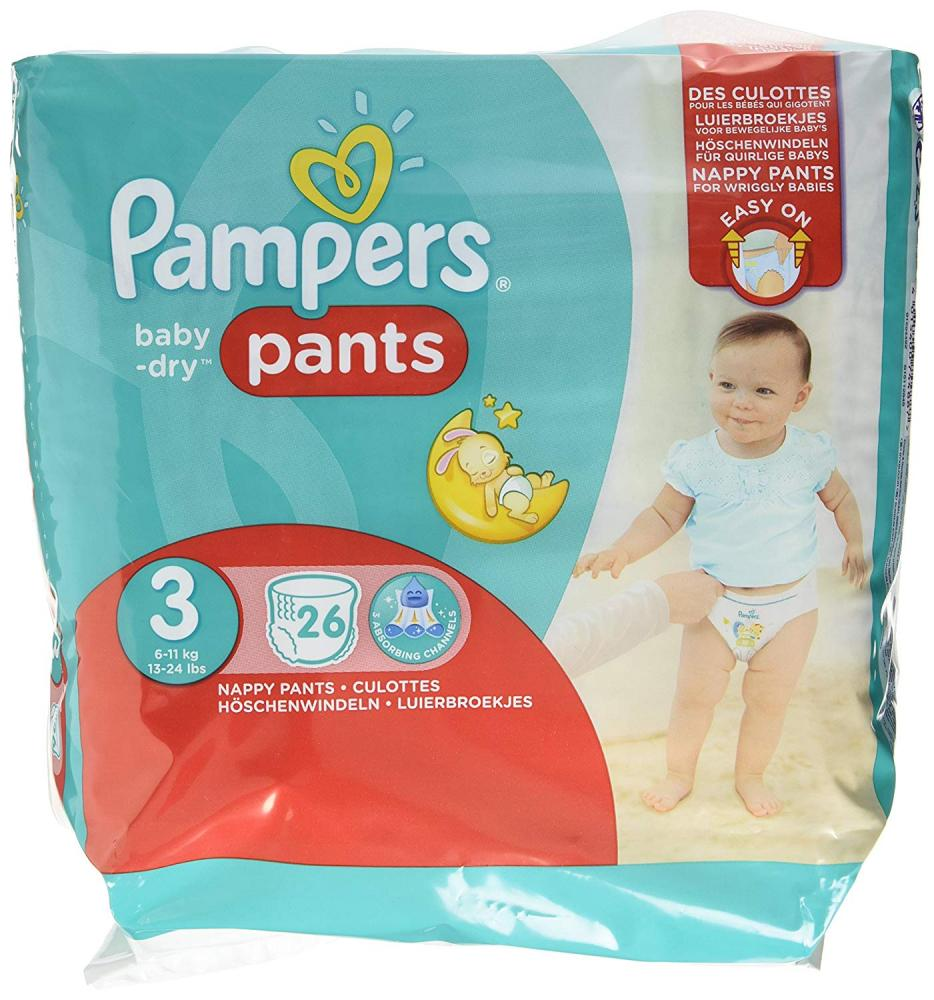 Pampers Pants Baby Dry 26pcsSize 3 [NL/F/D/UK]_2