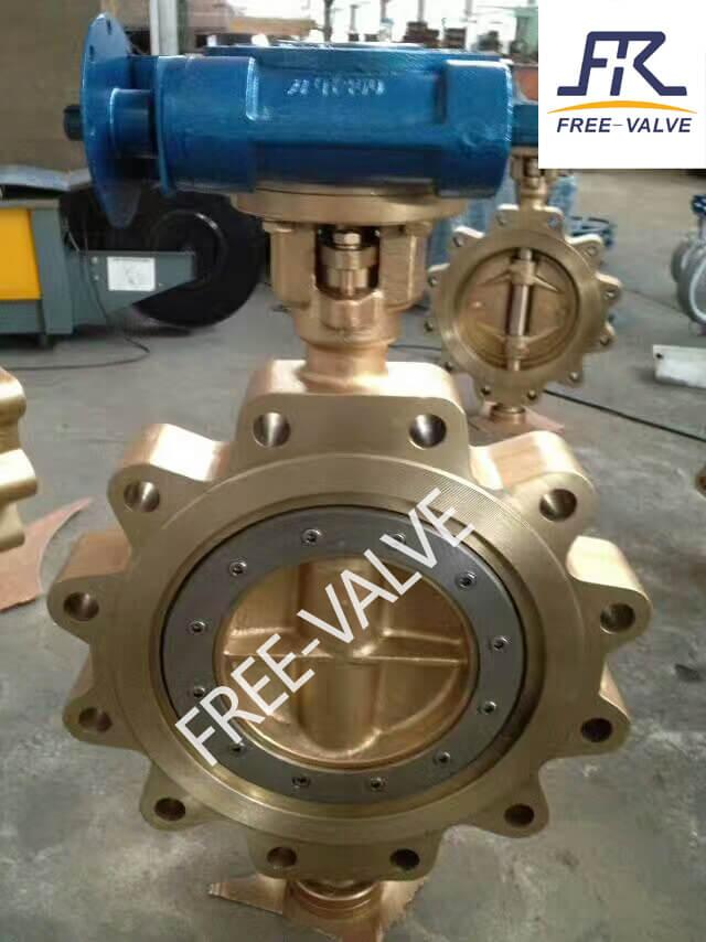 Lever Lug/Wafer API Brass/Bronze Butterfly Valve_2