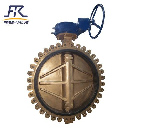 Aluminium Bronze Lug Type Butterfly Valve,bronze flange butterfly valve_2