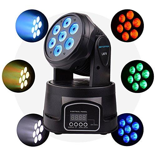 Lixada 4PCS LED Head Moving Light Rotating Moving Head DMX512 Sound Activated Master-slave Auto Running 11/13 Channels  RGBW Color Changing Beam Light for Disco KTV Club Party_2
