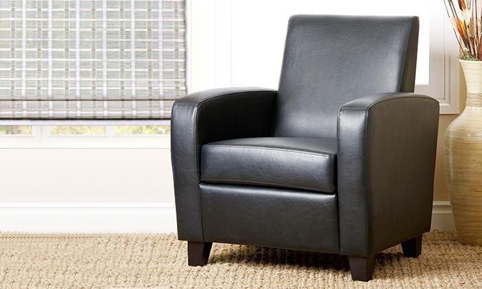 Mercer Black Bonded Leather Club Chair_2