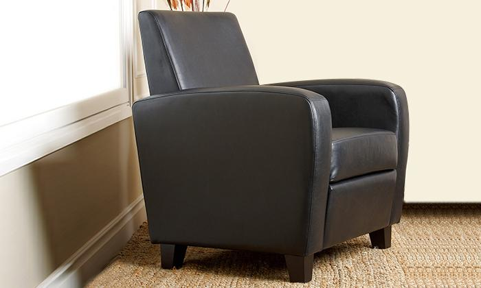Mercer Black Bonded Leather Club Chair_3