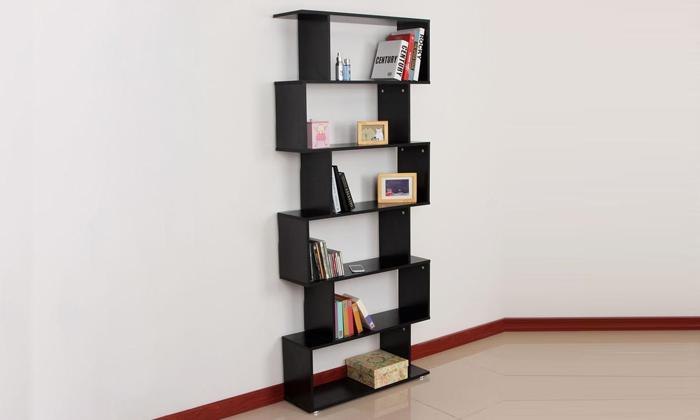 Six-Shelf S-Shaped Bookcase_3