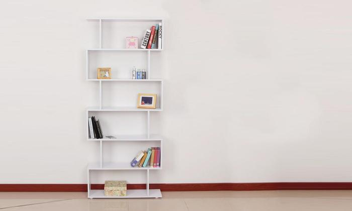 Six-Shelf S-Shaped Bookcase_2