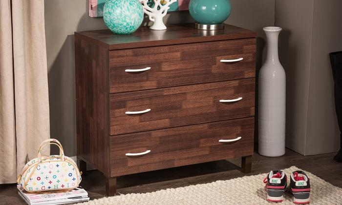 Oak Brown Finish 3, 4 or 5 Drawer Wooden Storage Chest_2