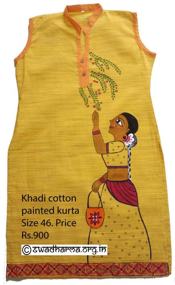 Hand painted kurti_2