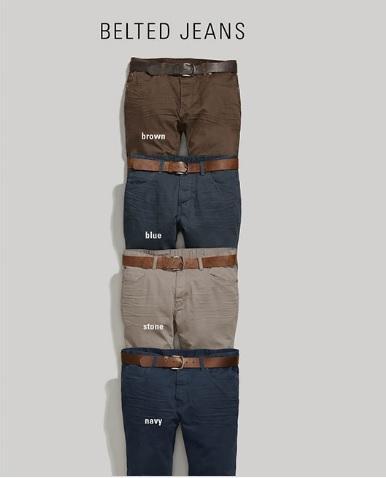 Men Belted Jeans_2
