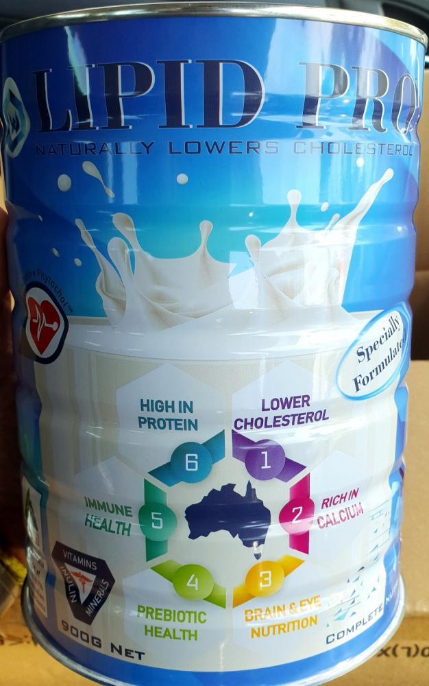 LIPID PRO Milk Powder Naturally Lowers Cholesterol 900g Made in Australia,  Vitamins Minerals Prebiotic Inulin Phosphatidylserine GOS FIBRE Immunity Protein Calcium Phytosterol DHA ARA_2