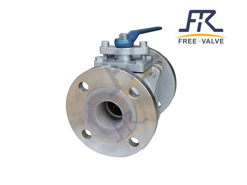 FRQ41F46 Full Bore stainless steel Flange Lining Fluorine Ball Valve Used in Corrosive Medium_3