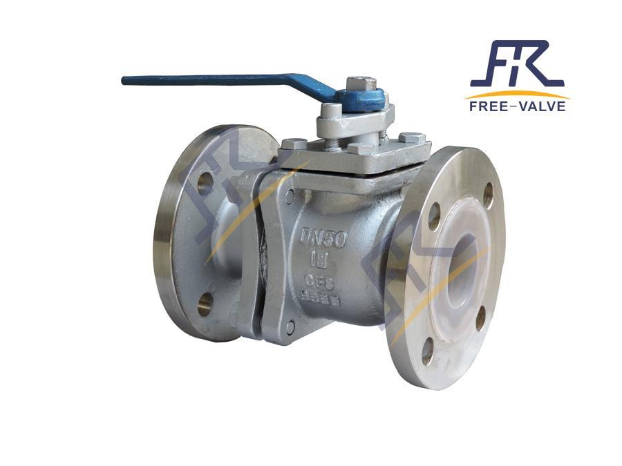 FRQ41F46 Full Bore stainless steel Flange Lining Fluorine Ball Valve Used in Corrosive Medium_2