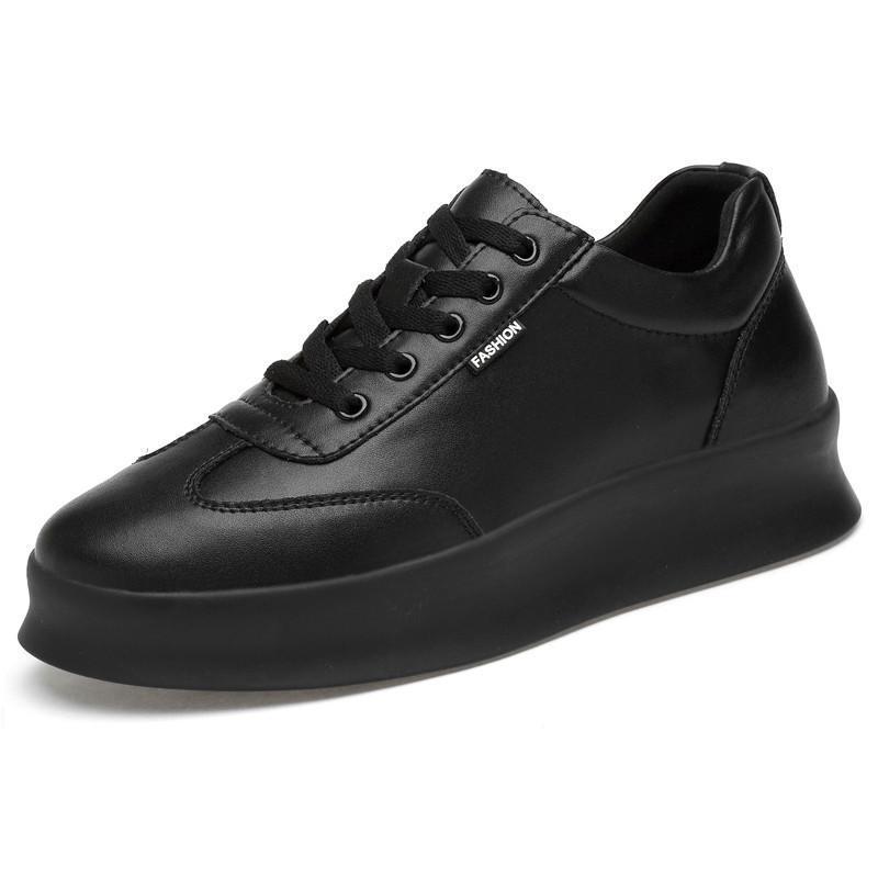Men height increasing elevator casual leather shoes_6