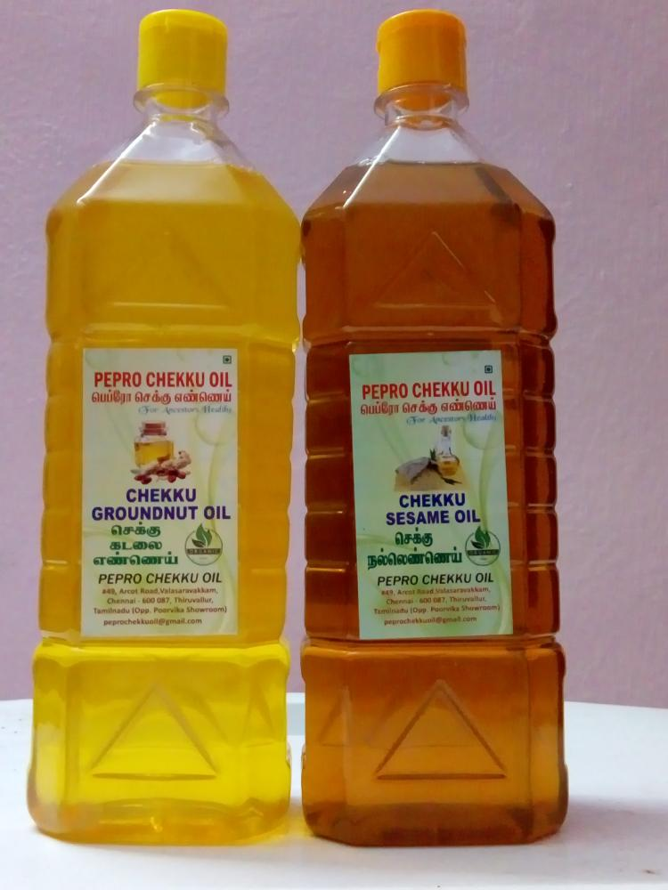 Chekku Sesame Oil and Groundnut oil_2