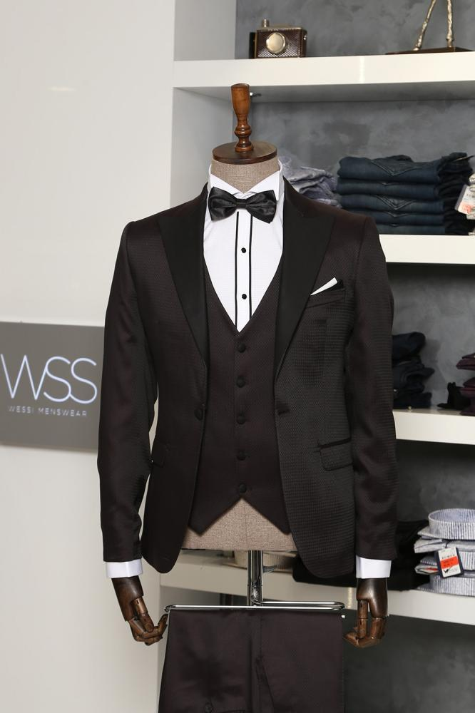 Claret Red and Black Tuxedo for Men | Clos_2