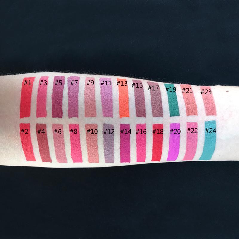 MS-LP-24 sexy Waterproof and touchproof Nude Matte Lipstick lip gloss_9