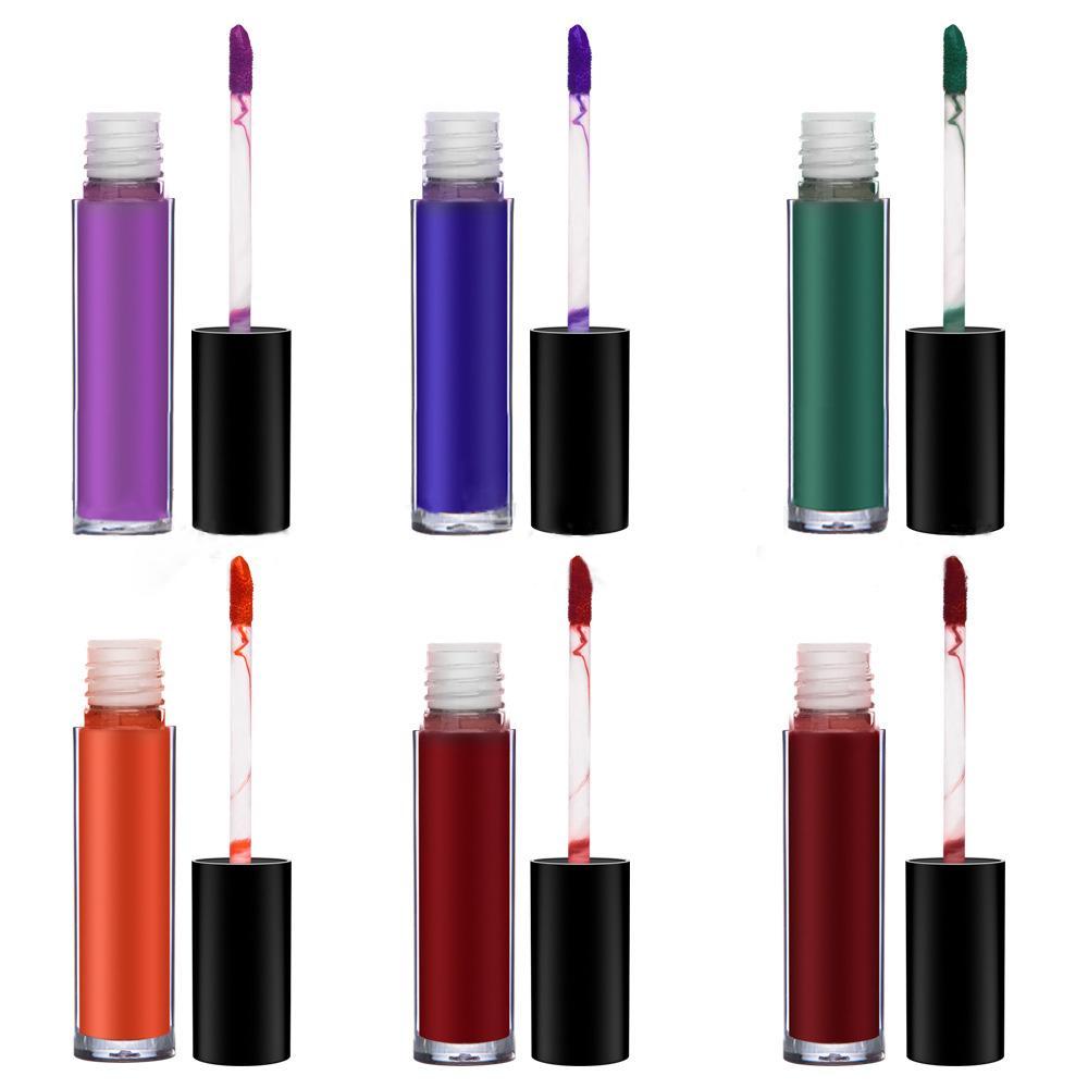 MS-LP-6 6 Matte Colors liquidwater proof lip gloss_3