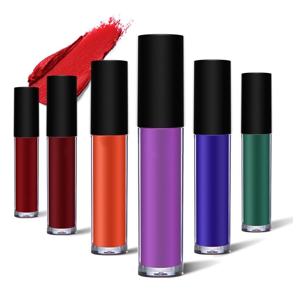 MS-LP-6 6 Matte Colors liquidwater proof lip gloss_2