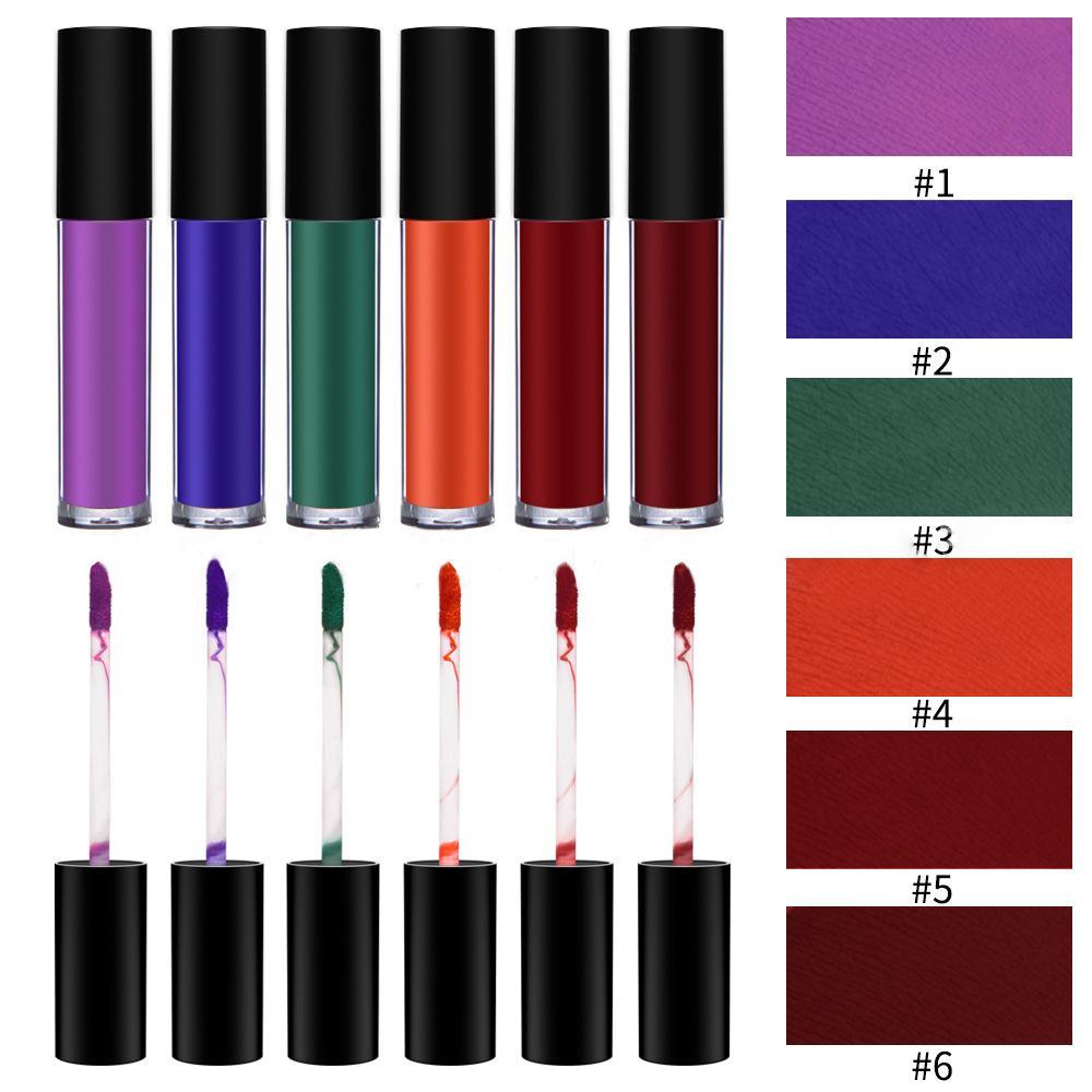 MS-LP-6 6 Matte Colors liquidwater proof lip gloss_5