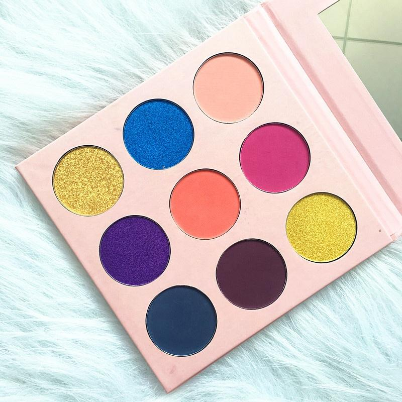 MS-EP-9-4 5 matte colors and 4 shimmer colors eyshadow palette_5