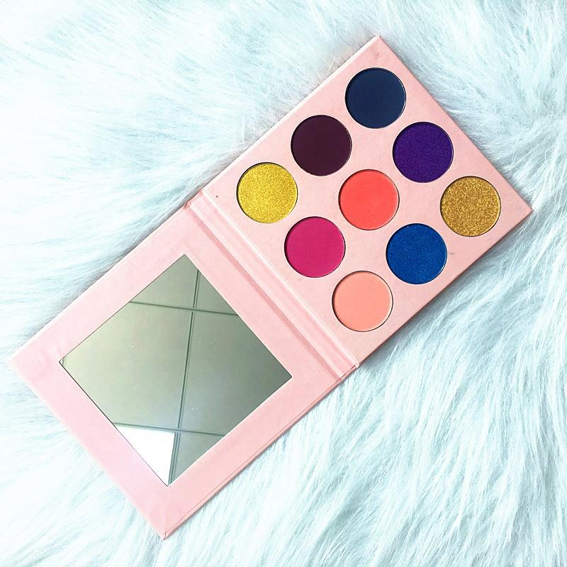 MS-EP-9-4 5 matte colors and 4 shimmer colors eyshadow palette_4
