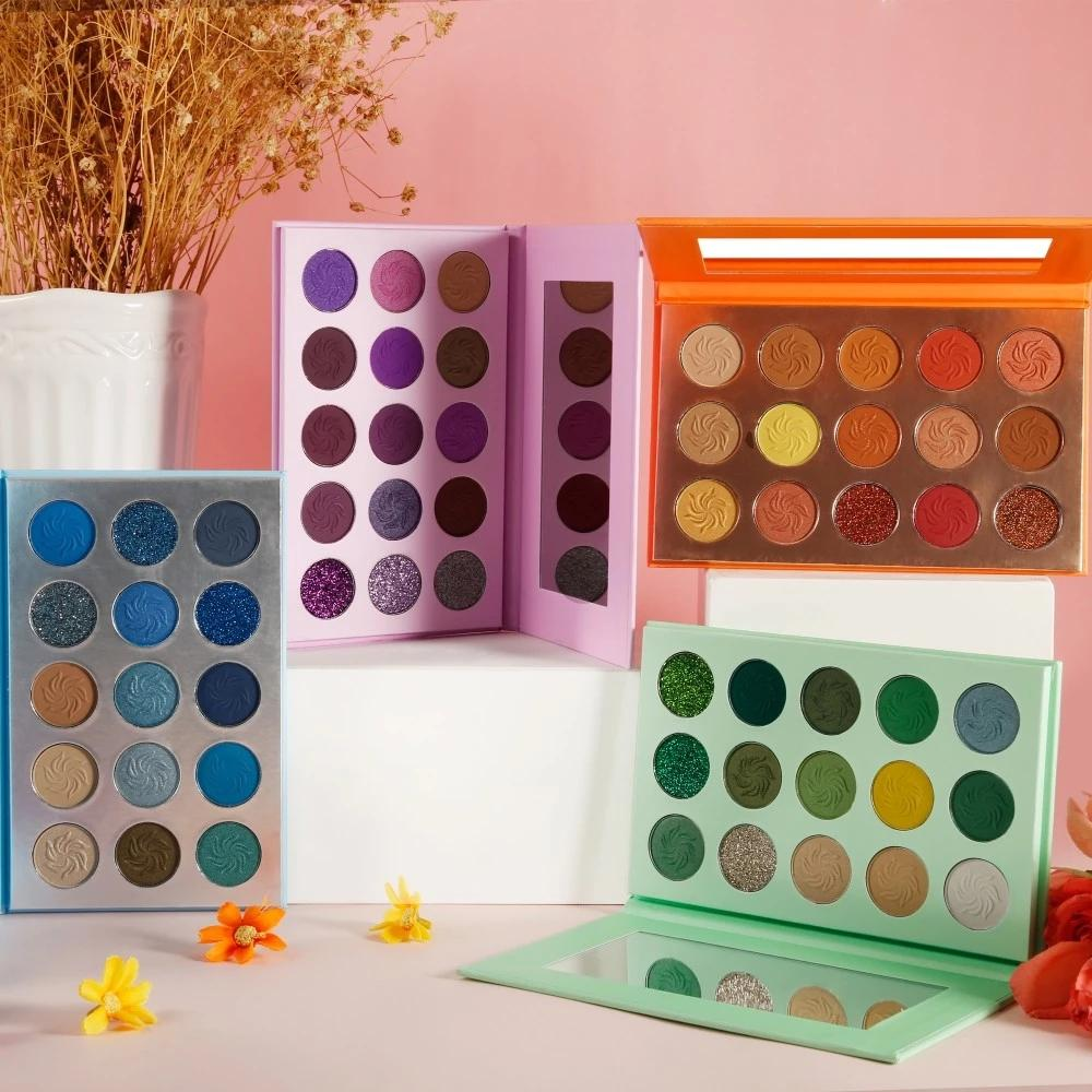 MS-EP-15 7 matte colors and 3 glitter colors eyeshadow palette_8