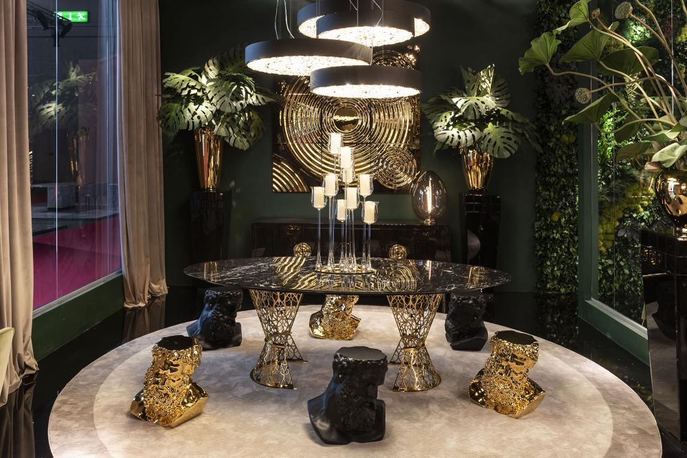 Table Gatsby, Top in Marble and Structure in Stainless Steel, Arabesque Style, Italy_3