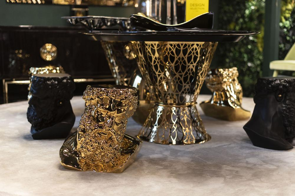 Table Gatsby, Top in Marble and Structure in Stainless Steel, Arabesque Style, Italy_6