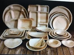 Biodegradable Areca leaf plates,bowls and cutlery_5