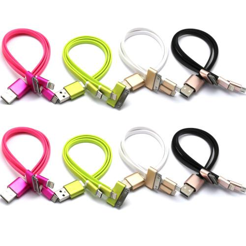 3 IN 1 MULTIFUNCTIONAL UNIVERSAL USB CHARGER CABLE FOR IPHONE 4 4S 5 5S 6 PLUS, IPAD 2 3 4 MINI AIR , SAMSUNG GALAXY S3 S4 S5 OTHER ANDROID SMARTPHONE 25CM COLORFUL_2