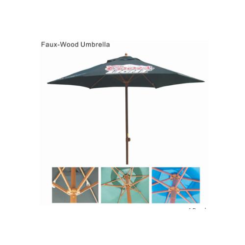 Faux Wood Umbrella - 2016101117742_2