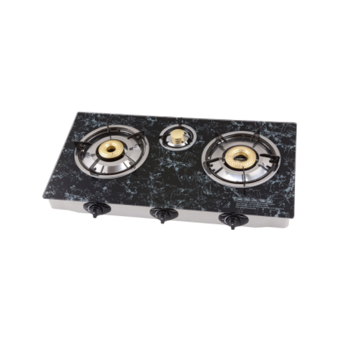 Marble Texture Glass Top Gas Stove with 3 Burners GT-723_2
