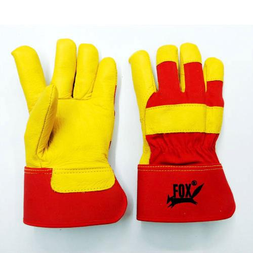 Gold Yellow Cow Hide Grain Canadian Rigger Gloves_2