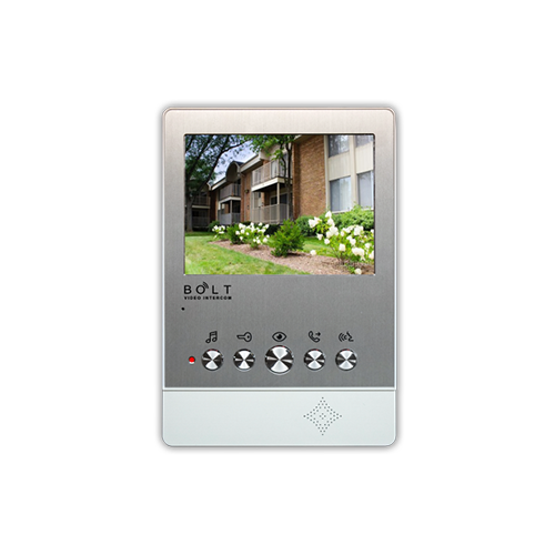 5 Inch HD Colorful LCD Monitor 4 Wire Handsfree Villa Video Intercom Supporting 2 Outdoor Stations And 4 Indoor Monitors In One System T51_2
