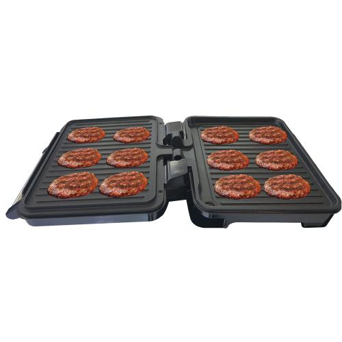 TOUCHMATE Contact Grill - 1800W, 6-in-1 Griller, 50% Energy Efficient, Black (TM-CG101S)_6
