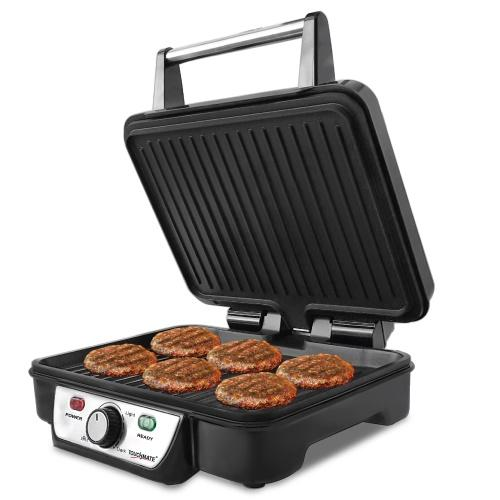 TOUCHMATE Contact Grill - 1800W, 6-in-1 Griller, 50% Energy Efficient, Black (TM-CG101S)_5