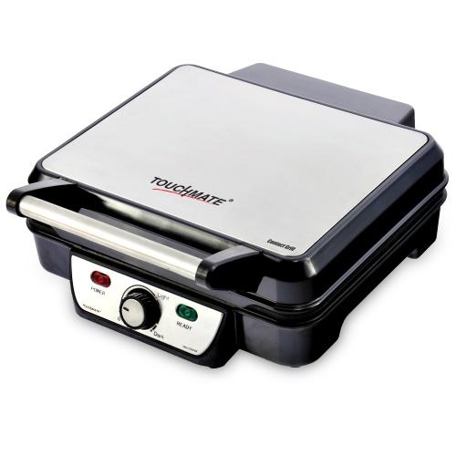 TOUCHMATE Contact Grill - 1800W, 6-in-1 Griller, 50% Energy Efficient, Black (TM-CG101S)_2