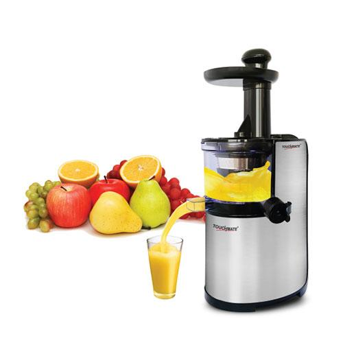 TOUCHMATE Stainless Steel Slow Juicer - 200W, 600ml Pulp Container & Juice Cup, Low Speed of 80RPM (TM-SJ103)_4