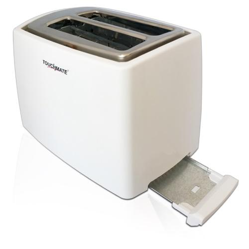 TOUCHMATE 2 Retro Slice Toaster - 800W, Electronic Control for Reheat, Defrost & Stop Functions, Black (TM-TS200W)_3