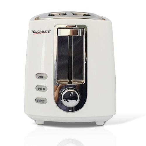 TOUCHMATE 2 Retro Slice Toaster - 800W, Electronic Control for Reheat, Defrost & Stop Functions, Black (TM-TS200W)_4