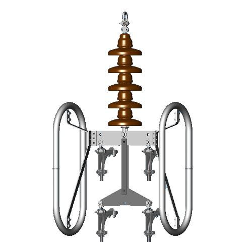 400 kV Single Suspension for Quad (4) Conductors (Drop Type)_2