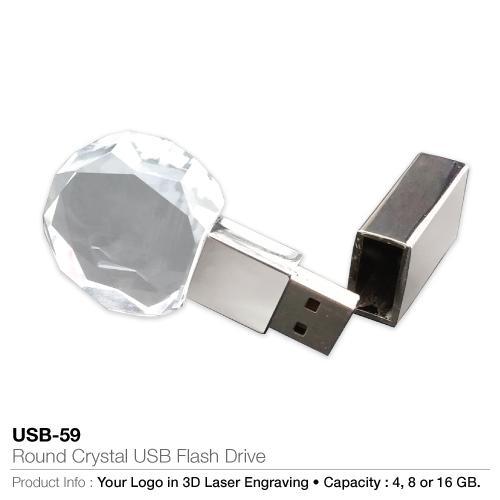 Round Crystal USB Flash Drive  (USB-59)_2