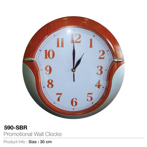 Promotional Wall Clocks  (590-SBR)_2