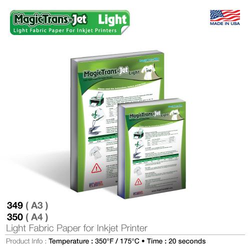 Light Fabric Paper for Inkjet  Printers 349(A3); 350(A4)_2